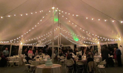 Maryland Tent Rentals with Lighting